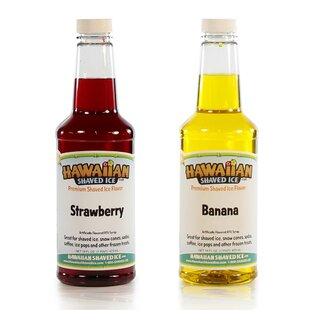 Hawaiian Shaved Ice Strawberry-Banana Flavor Syrup- 16 oz (2 Pack)