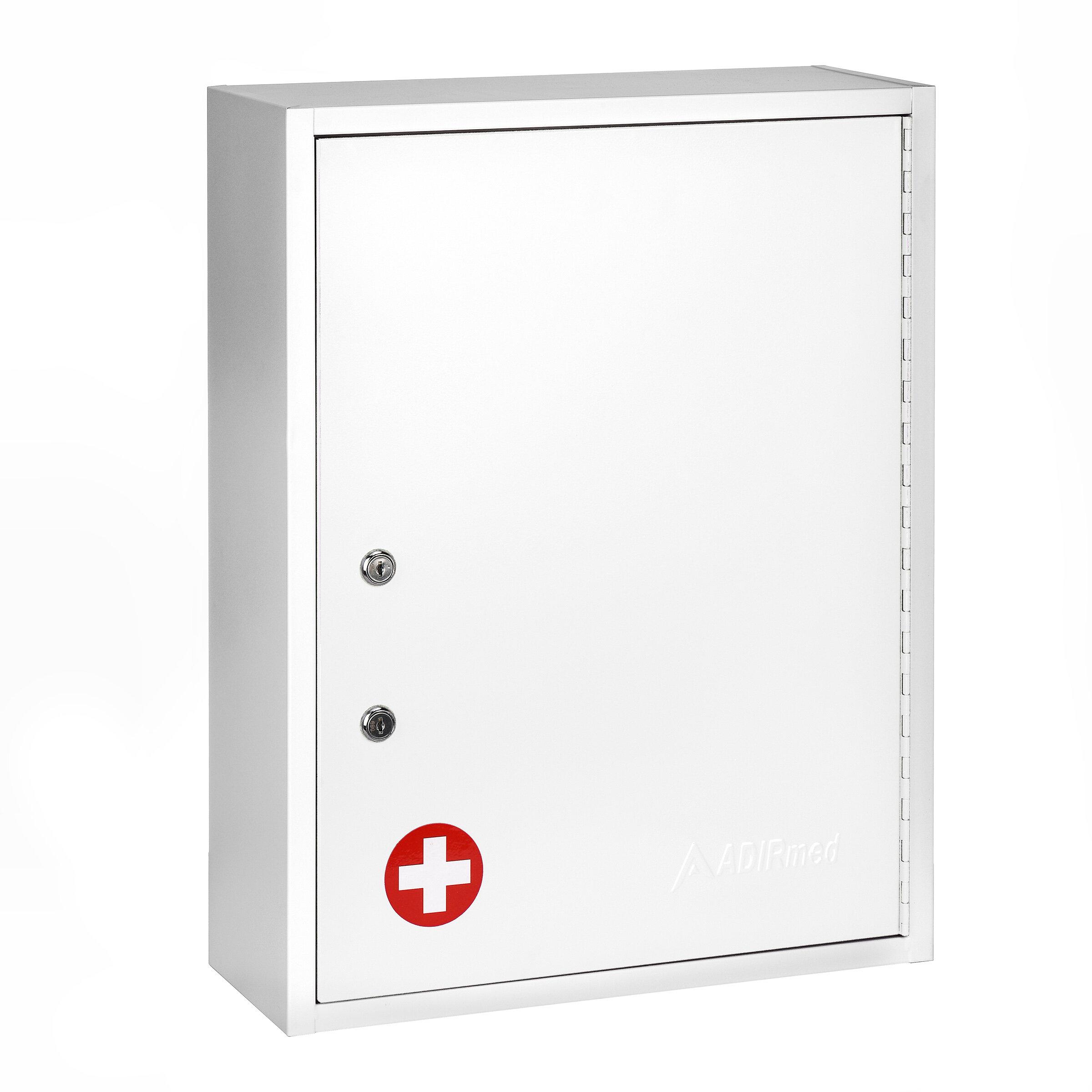 Adirmed Medical Security Dual Lock 16 W X 21 H Wall Mounted Cabinet Reviews Wayfair