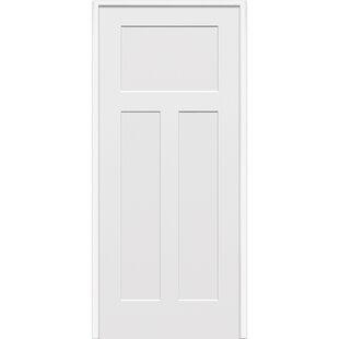 Genial Craftsman MDF 3 Panel Primed Prehung Interior Door