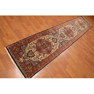 One-of-a-Kind Emery Traditional Persian Hand-Knotted 2'7 x 12'2 Wool Beige/Orange/Blue Area Rug ByIsabelline