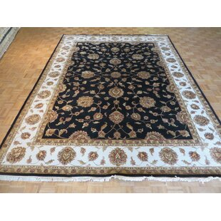 Inexpensive One-of-a-Kind Rhyne Hand-Knotted Wool Black Area Rug ByAstoria Grand