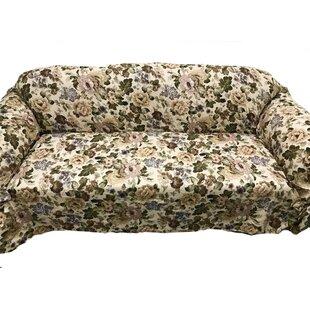 August Grove Romance Box Cushion Sofa Slipcover