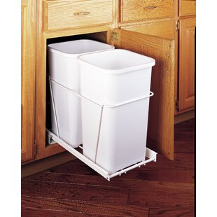 Plastic 6.75 Gallon Pull Out Trash Can