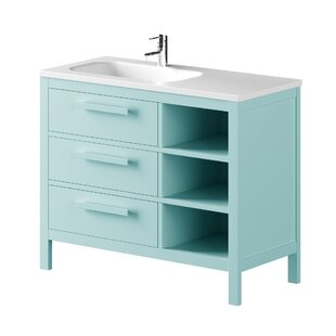 Nakagawa Solid Pine 1000mm Free-standing Single Vanity Unit By 17 Stories