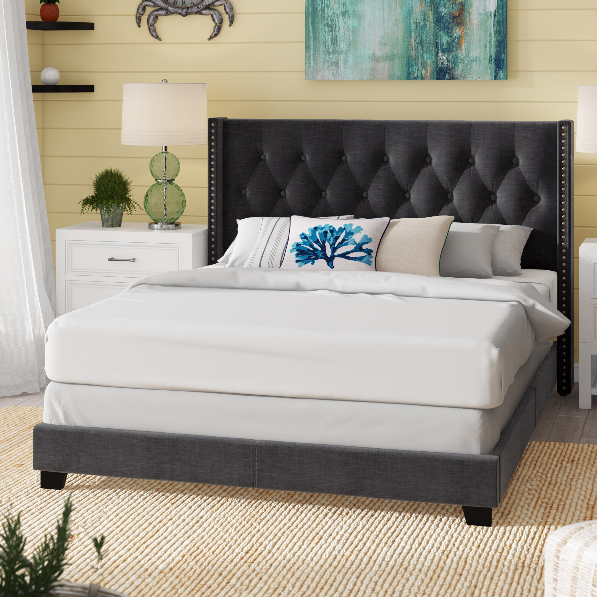 Charlton Home Anner Tufted Upholstered Standard Bed Reviews Wayfair Ca