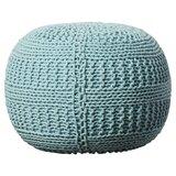 Ramon Color Cable Knit Pouf Ottoman