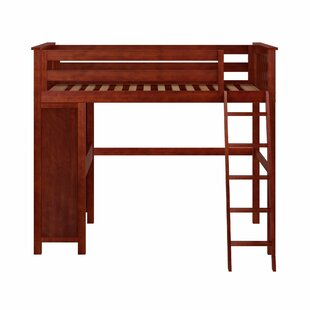 Solari Twin High Loft Bed with Desk by
