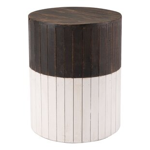 Abbottstown Wooden Round Accent Stool by Foundry Select