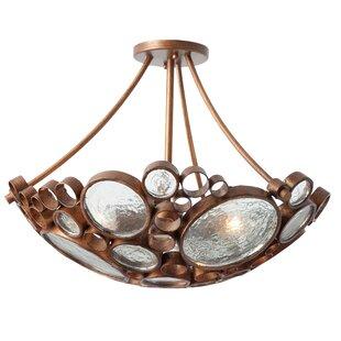 Varaluz Recycled Fascination 3-Light Semi Flush Mount Ceiling Light