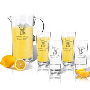 Tritan Buck Lodge 5 Piece Beverage Serving Set