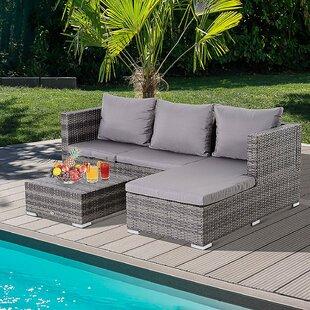 Nantan Right Arm Garden Corner Sofa Piece With Cushions By Sol 72 Outdoor