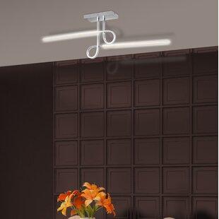 Brickhouse 1-Light LED Semi Flush Mount by Orren Ellis