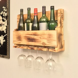 Pomegranate Solutions, LLC 5 Bottle Wall Mounted Wine Bottle Rack