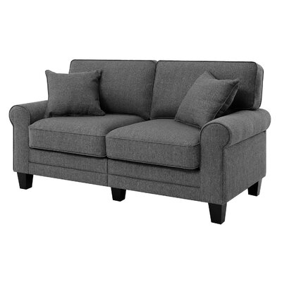 Buxton Loveseat Upholstery Color: Gray by Beachcrest Home