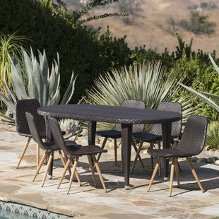 Brayden Studio Ramm Outdoor 7 Piece Dining Set