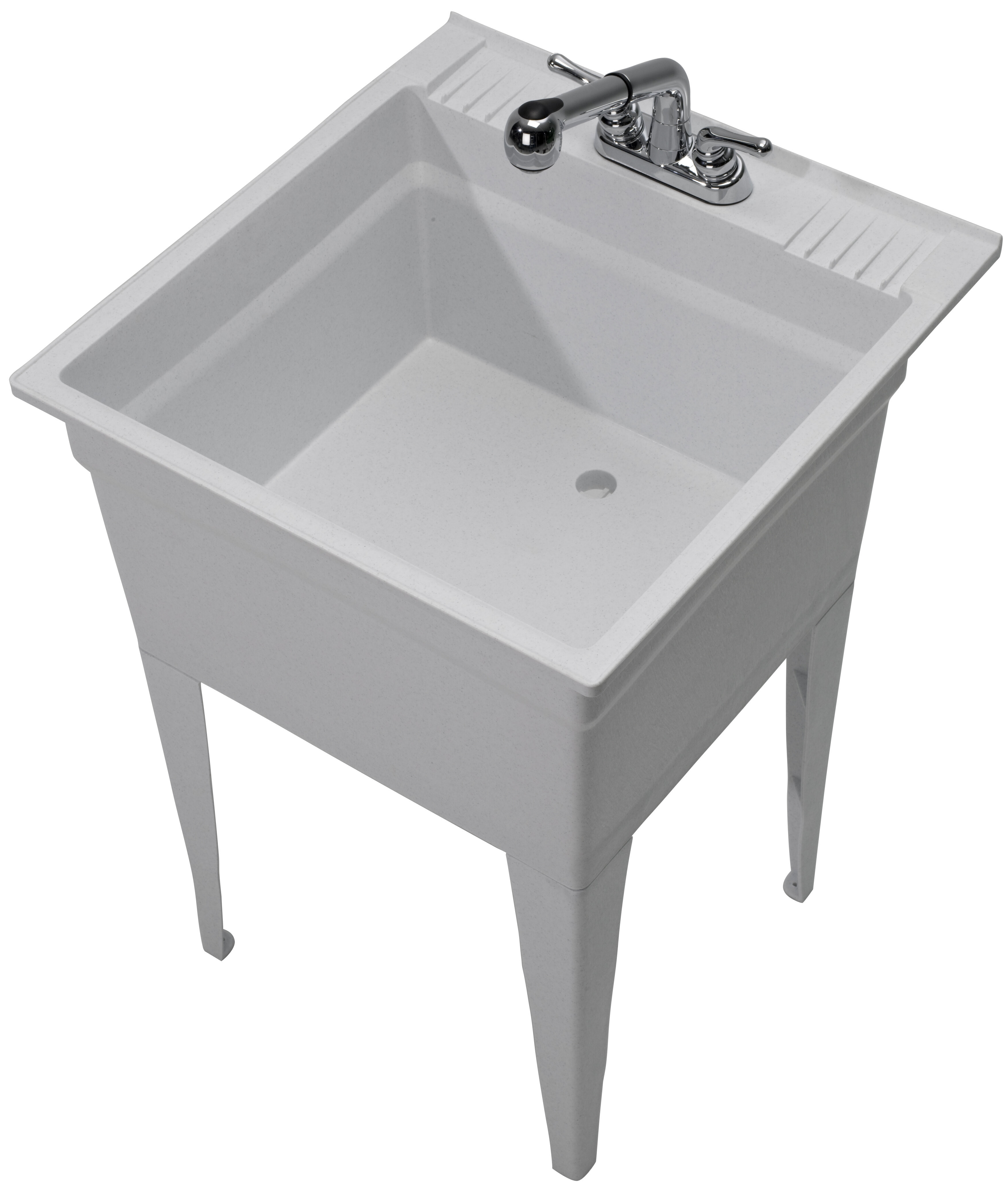 1960 32 02 Heavy Duty 23 75 X 24 Freestanding Laundry Sink With Faucet