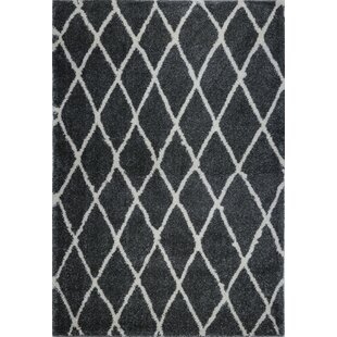 Comparison Fancy Trellis Black Area Rug By Brayden Studio