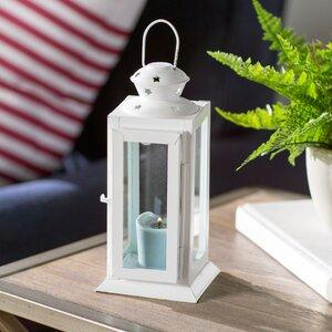 Tall Candle Glass/Metal Lantern