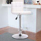 Capus Swivel Adjustable Height Bar Stool by Latitude Run®