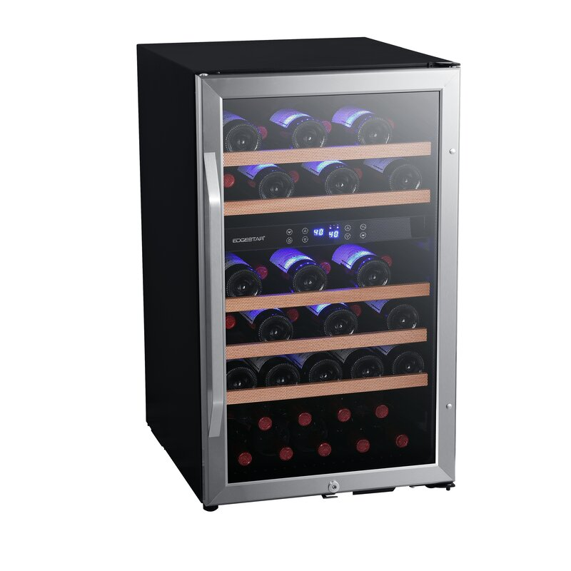 Edgestar 38 Bottle Dual Zone Freestanding Wine Refrigerator Reviews Wayfair