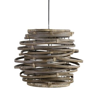 Highland Dunes Vitiello 1-Light Drum Pendant
