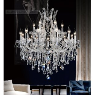 Reviews Orr Crystal 19-Light Chandelier By Astoria Grand