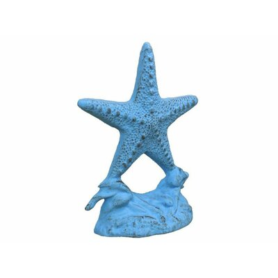 Starfish Cast Iron Weighted Floor Stop Handcrafted Nautical Decor