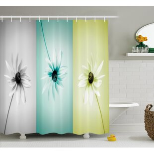 Clearance Abstract Different Daisy Flower Shower Curtain ByEast Urban Home