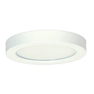Orren Ellis Elzy Round 1-Light LED Flush Mount