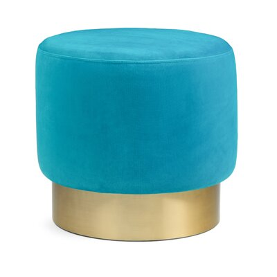 Dingess Ottoman Mercer41 Upholstery Color: Mediterranean Blue