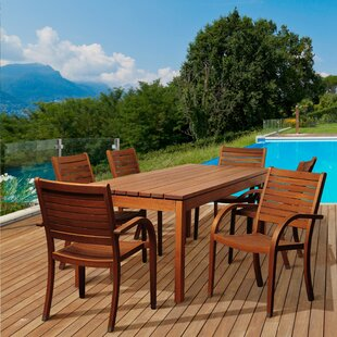 Rosecliff Heights Ashford 7 Piece Wood Dining Set