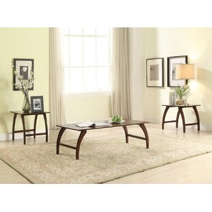 Wrought Studio Glaspie Wooden 3 Piece Coffee Table Set