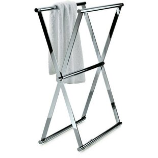 AGM Home Store Folding Double Free Standing Towel Rack