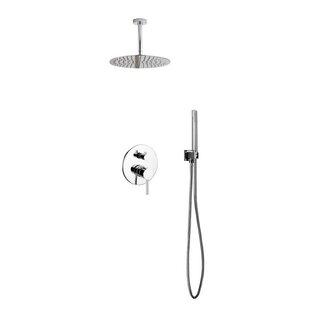 Rebrilliant Bustillos Diverter Shower Faucet with Metal Lever Handle
