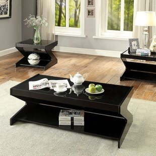 Sunray Contemporary 3 Piece Coffee Table Set