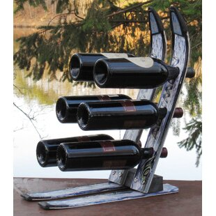 Snow 6 Bottle Tabletop Wine Rack by Ski Chair