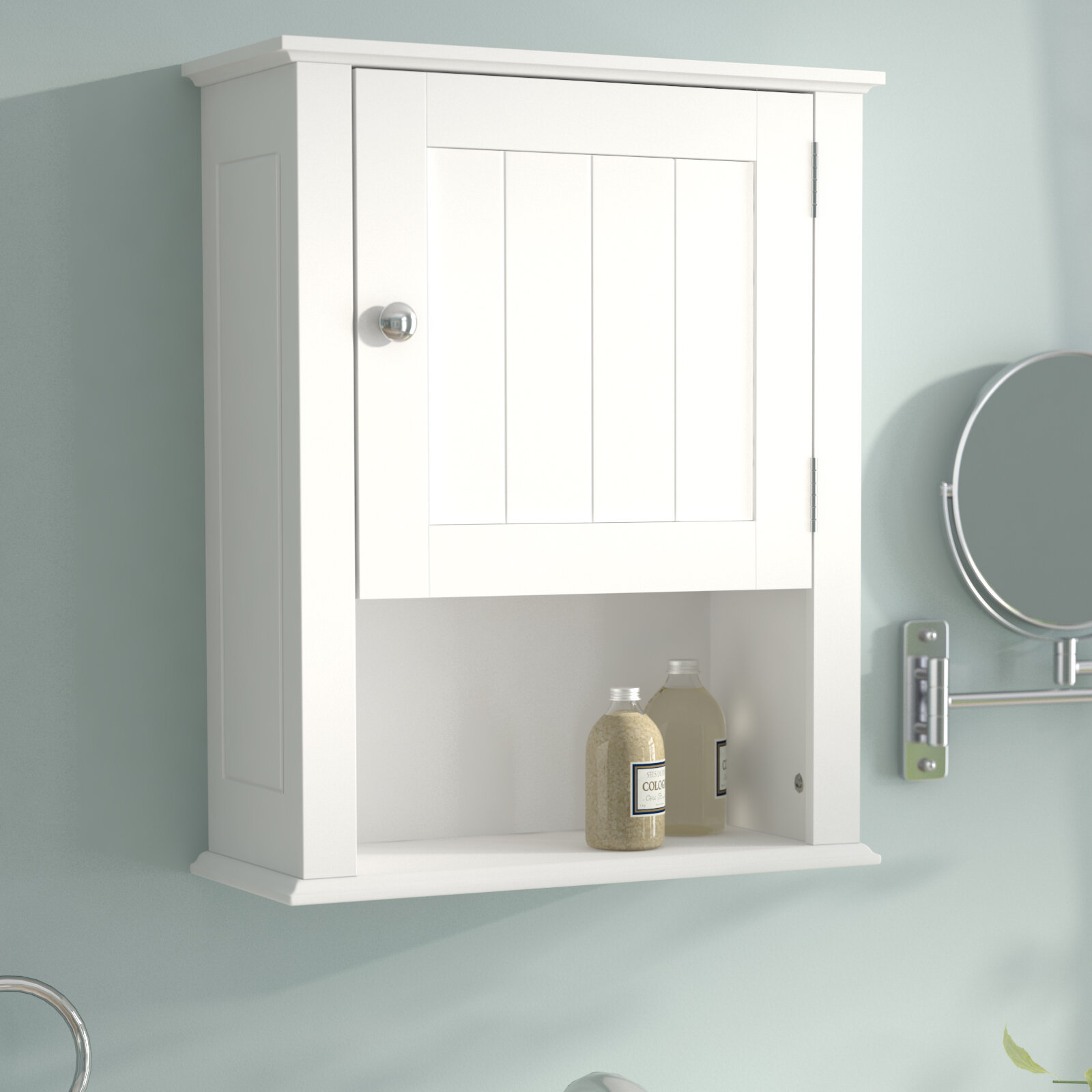 andover mills godbey 16 54 w x 20 47 h wall mounted cabinet