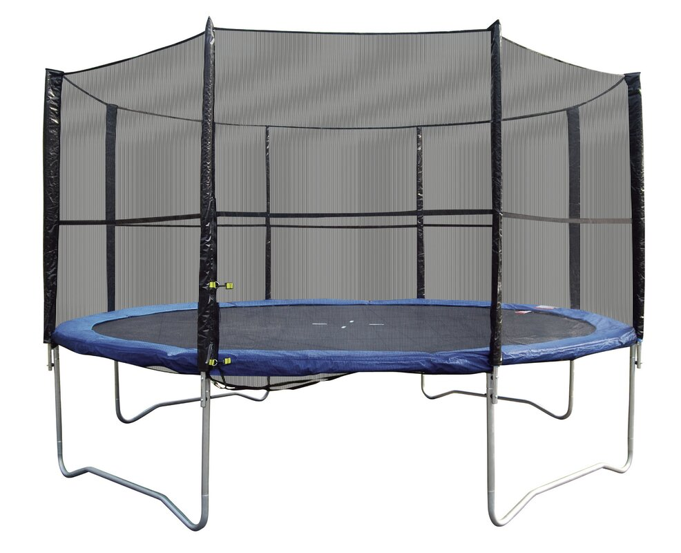 super jumper 12 u0027 trampoline with safety enclosure u0026 reviews wayfair