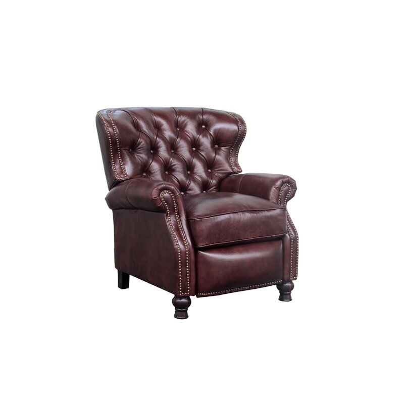 Tayla Genuine Leather Manual Recliner