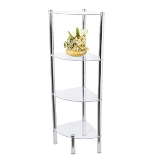 Four Shelf Corner Bookcase by Home Basics