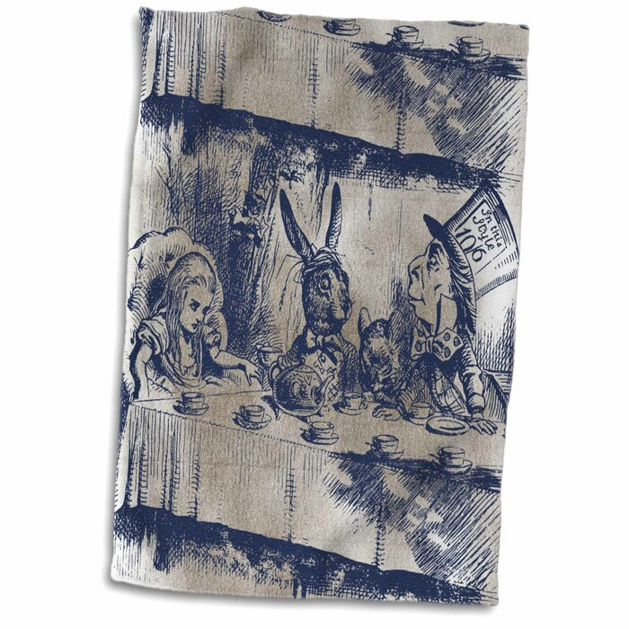 Alice In Wonderland Tea Party With Mad Hatter Hand Towel