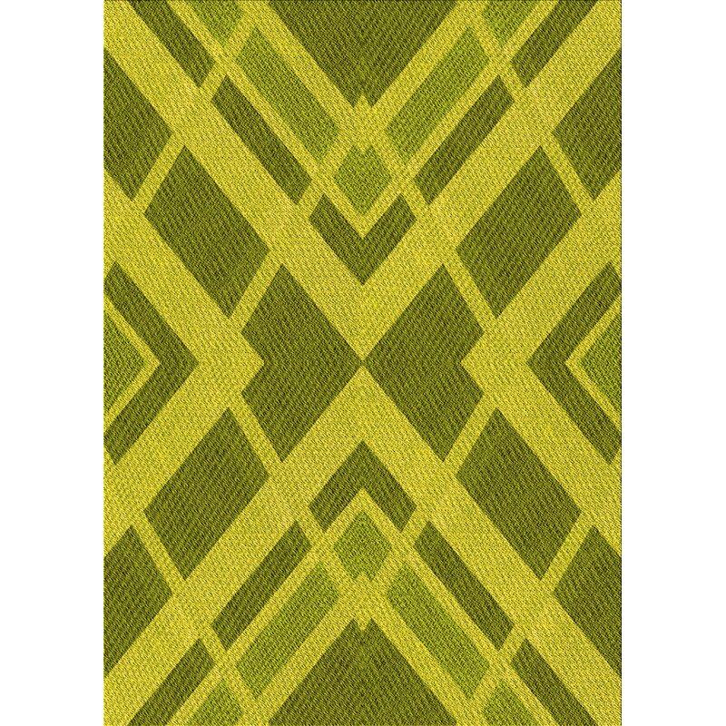 East Urban Home Hanson Geometric Wool Yellow Area Rug Wayfair