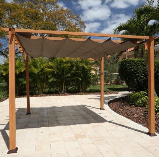 Paragon Outdoor 138 W X 138 D Aluminum Pergola With Canopy
