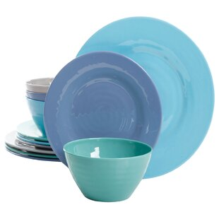 Carita 12 Piece Melamine Dinnerware Set, Service for 4