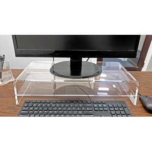 Ivy Bronx Magers Acrylic Monitor Riser with Shelf