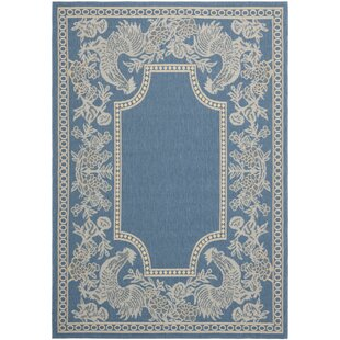 Laurel Blue/Natural Indoor/Outdoor Rug