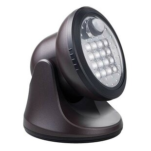 Best Sage Ultra-Bright 16-LIght LED Outdoor Flush Mount with Motion Sensor By Symple Stuff