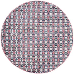 Bargain Saleem Hand-Woven Coral Area Rug ByBungalow Rose