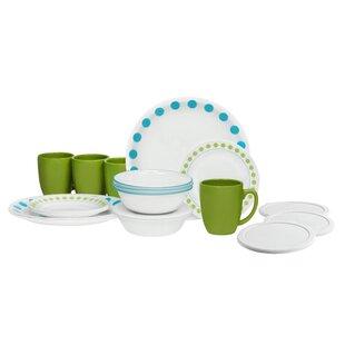 Livingware 20 Piece Dinnerware Set Service for 4  sc 1 st  Wayfair & Beach House Dinnerware | Wayfair