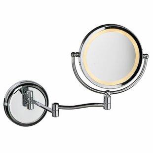 Tibbits Round Swing Arm LED Makeup/Shaving Mirror ByCanora Grey